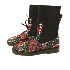 Leandra Medine floral embroidered boots si…